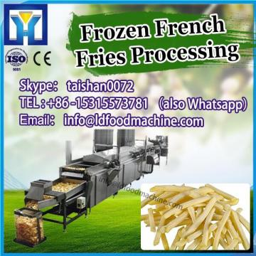 whole production line of french fries make machinery