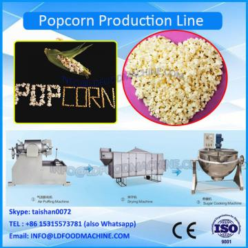 Automatic mushroom popcorn batch caramel popcorn make machinery